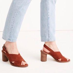 Madewell criss cross heeled sandals 6.5